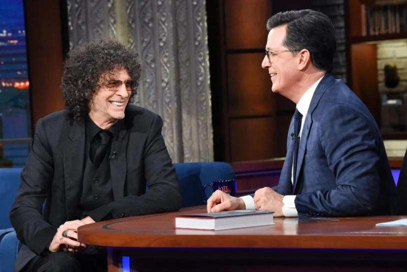 Howard Stern talks to Stephen Colbert