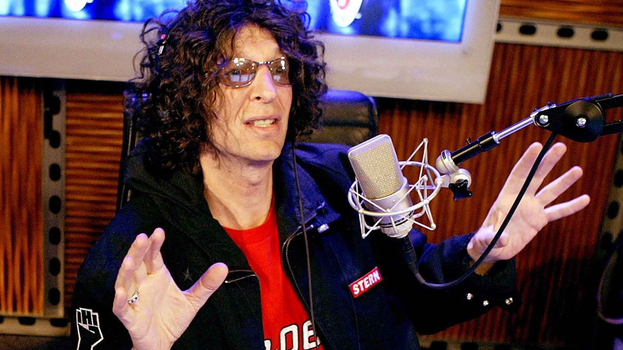 Howard Stern broadcasting the Howard Stern Show